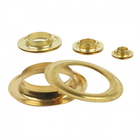 Œillets ronds métalliques